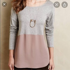 Anthropologie Meadow Rue Colorblock long sleeve